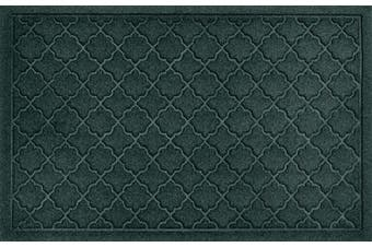 (Standard Doormat, 0.6m x 0.9m, Evergreen) - Bungalow Flooring Waterhog Indoor/Outdoor Doormat, 0.6m x 0.9m, Made in USA, Skid Resistant, Easy to Clean, Catches Water and Debris, Cordova Collection, Evergreen