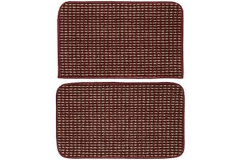 (46cm  x 70cm /46cm  x 70cm , Chili Pepper Red) - Garland Rug Berber Coloriations 46cm x 70cm /46cm x 70cm , Chilli Pepper Red
