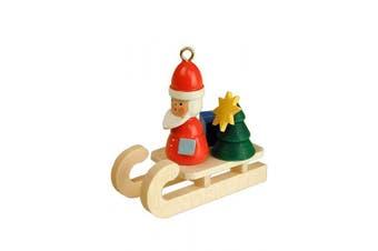 "Alexander Taron Importer 10-0073 - Christian Ulbricht Ornament - Santa on Sleigh - 3.8cm "" H x .190cm "" W x 5.1cm "" D"