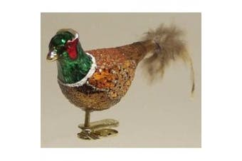 (Pheasant) - Old World Christmas Clip on Pheasant Ornament