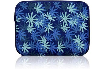 (15.6 inch, Dark blue maple leaf) - Arvok Water-resistant Neoprene Laptop Sleeve Case Bag/Notebook Computer Case/Briefcase Carrying Bag/Pouch Skin Cover For Acer/Asus/Dell/Fujitsu/Lenovo/HP/Samsung/Sony/Toshiba