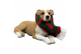 (Ornament, Fawn Pit Bull Terrier) - Sandicast Fawn Pit Bull Terrier Christmas Ornament