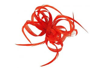 (Red) - Aurora Collection Loops in Hessian Fascinator