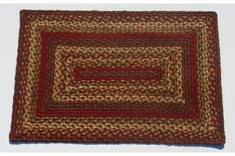 (rectangle, 50cm  x 80cm ) - IHF LTD Cinnamon Rectangle Jute Braided Rug 50.8cm x 76.2cm
