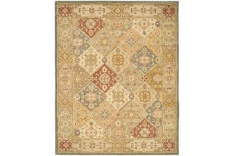 (0.6m x 0.9m, Multicolored) - Safavieh Antiquities Collection AT316A Handmade Traditional Oriental Multi and Beige Wool Area Rug (0.6m x 0.9m)