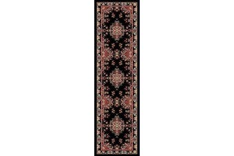 (2x7, Black/Red) - Home Dynamix Premium Sakarya Area Rug by Traditional Persian-Inspired Carpet | Stylish Medallion Print and Classic Boarder Design | Black, Red, Multicolor 0.3m x 2.1m Runner