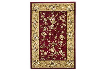 (0.6m x 0.9m, Red/Beige) - KAS Oriental Rugs Cambridge Collection Floral Delight Area Rug, 0.6m x 0.9m, Red/Beige