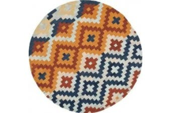 (3ft.) - Safavieh HK726A-3R Chelsea Collection 0.91m Round Hand-hookedWool Round Area Rug Multicolor 3' x 3'
