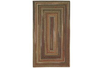 (0.6m x 0.9m) - Manchester Brown Hues Multi Rug Rug Size: Concentric 0.6m x 0.9m