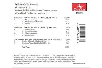 Brahms Cello Sonatas
