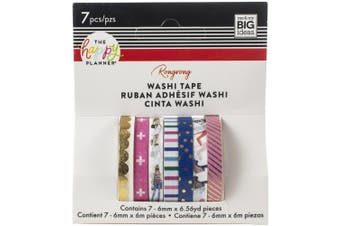 Happy Planner X Rongrong Skinny Washi Tape 7/Pkg