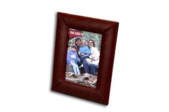 (10cm x 15cm , Mocha) - Dacasso A3017 Leather 4x6 Photo Frame