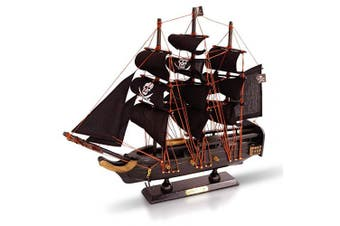 (Pirate 33cm) - Brynnberg Wooden Pirate Ships Model Boat (Pirate 33cm)