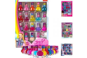 (Jojo Nail 18pcs Set) - Kids Girls Jojo Siwa Fruity Scented Nail Art Set Included 18pcs