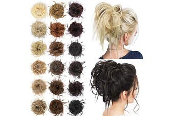 (10#( Medium Golden Brown)) - AISI BEAUTY Tousled updo hair pieces messy bun hair scrunchies extensions hair pieces and ponytails hair extensions for women (10#(Medium Golden Brown))