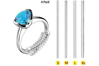 Ring Size Adjuster for Loose Rings Invisible for Any Rings 12 Pcs Included 4 Sizes - Jewellery Sizer, Mandrel for Making Jewellery Guard. Spacer, Sizer, Fitter