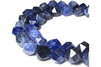 (Sodalite (From Brazil)) - [ABCgems] Brazilian Sodalite 8mm Precision-Star-Cut Beads for Beading & Jewellery Making