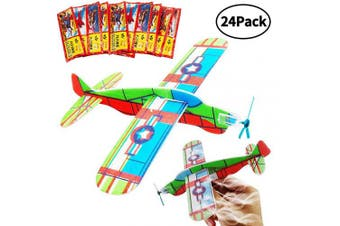 BESTZY Gliders Planes,Plane Glider, Foam Gilder Plane,Glider Plane Toy Gliding Aeroplanes for Children as a Prize and a Present for the Children's Birthday (Glider Plane 24P)