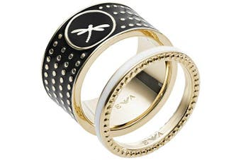 Emporio Armani Women Stainless Steel Stacked Ring - EGS2520710-6.5