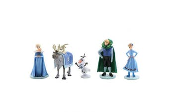5Pcs Frozen cake topper Action Figure Toys Premium Frozen Cake Toppers Frozen cake decorations and Party Favours for Frozen party supplier birthday