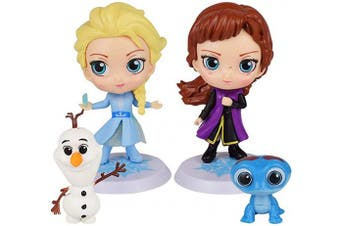 4Pcs Frozen cake topper Action Figure Toys Premium Frozen Cake Toppers Frozen cake decorations and Party Favours for Frozen party supplier birthday