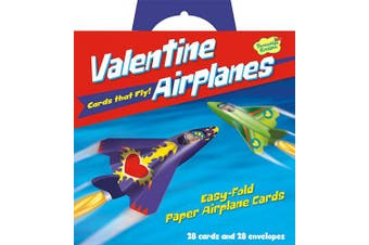 Peaceable Kingdom Valentine Aeroplanes - 28 Folding Aeroplane Cards