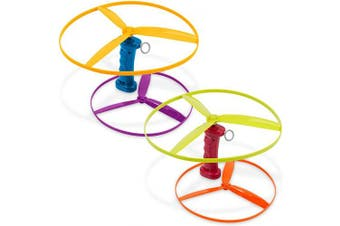 Battat – Skyrocopter – Flying Disc Toy with 2 Launchers & 4 Discs for Children Aged 3 Years Old & Up (6-Pcs)