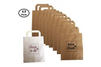 Blue Planet Fancy Dress Hen Party Bags Pack of 16 Team Bride Bags and 1 Bride to Be Bag