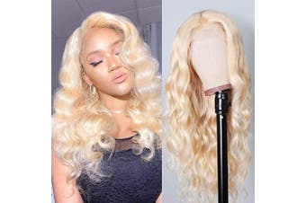 (30cm , 613 Blonde) - 613 Blonde Body Wave 13x 4 Lace Front Wig for Black Woman 150% Density Free Part Glueless Brazilian Virgin Hair Lace Wigs Pre Plucked Natural Hairline 30cm