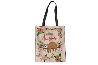 (Sloth 1) - Showudesigns Butterfly Canvas Tote Shoulder Bag Women's Beach Handbag Design