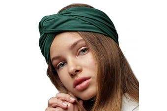 (Spruced Up Green) - BLOM Long Hug Head Wrap. Use as a Wrap, Headband, or Scarf. Premium Soft Jersey. (Spruced Up Green)