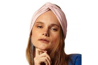 (Pink Nude) - BLOM Long Hug Head Wrap. Use as a Wrap, Headband, or Scarf. Premium Soft Jersey. (Pink Nude)