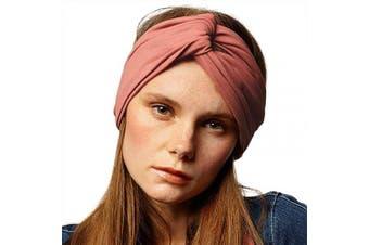 (Canyon Rose) - BLOM Long Hug Head Wrap. Use as a Wrap, Headband, or Scarf. Premium Soft Jersey. (Canyon Rose)