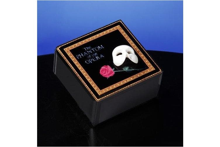 Mask & Rose Glass Music Box