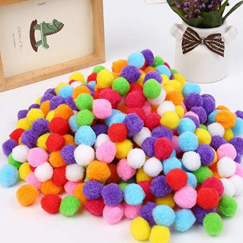 500Pcs 2.5cm Pom Poms Multicolor Pompoms Fuzzy Pom Poms Balls for Crafts Making Hobby Supplies Arts DIY Projects Creative Crafts Decorations