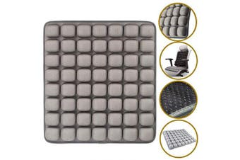 (Grey) - SUNFICON Inflatable Seat Cushions Air Cushion Car Seat Office Chair Wheelchair Cushion Anti Bedsore Orthopaedics Seat Pad Pressure Relief Cushion Portable Breathable Camping Seat Mat 46 x 41CM Grey