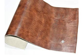(12 x 24, Brown Lizard Print) - ABE Leather HIDES Cow Skins Various Colours & Sizes (Brown Lizard Print, 12 x 24)