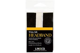 (15cm , White) - Lineco White 15cm Silk Head Band. Finishing Touch for Bound Books. Bookbinding, DIY, Crafts, Projects, Journals, Scrapbooking, Book Decor.