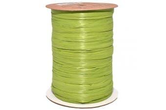 (100 yards, Jungle Green) - Morex Ribbon 100% Rayon Matte Raffia Biodegradable Ribbon, Jungle Green, 0.6cm x 100 Yd