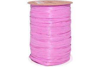 (100 yards, Orchid) - Morex Ribbon 100% Rayon Matte Raffia Biodegradable Ribbon, Orchid, 0.6cm x 100 Yd