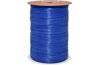 (100 yards, Cobalt Blue) - Morex Ribbon 100% Rayon Matte Raffia Biodegradable Ribbon, Cobalt Blue, 0.6cm x 100 Yd