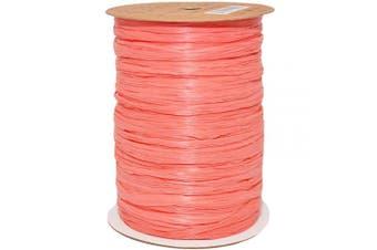(100 yards, Coral) - Morex Ribbon 100% Rayon Matte Raffia Biodegradable Ribbon, Coral, 0.6cm x 100 Yd