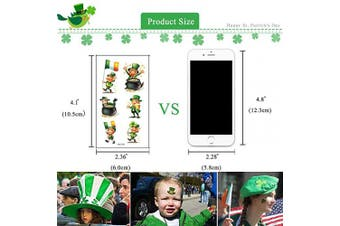 (10 Sheets) - 169Pcs St. Patrick's Day Temporary Tattoos Sticker, COKOHAPPY 20 Sheets Body Temporary Tattoos Decorative Stickers for Saint Patrick's Day Party Favour Decoration