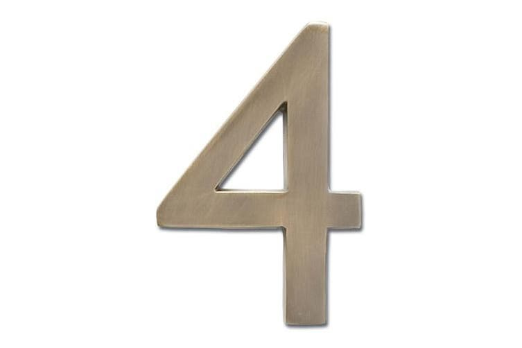 Architectural Mailboxes 3585AC-7 Solid Cast Brass 5 in. Antique Copper Floating House Number 7
