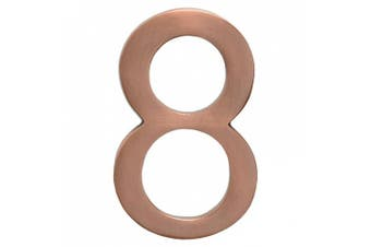 (Antique Copper) - Architectural Mailboxes 3585AC-8 Solid Cast Brass 5 in. Antique Copper Floating House Number 8
