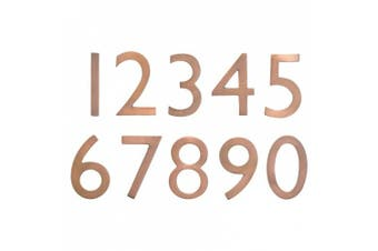(Antique Copper) - Architectural Mailboxes 3585AC-2 Brass 13cm Floating House Number 2, Antique Copper