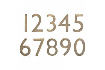 Architectural Mailboxes 3585AB-6 Solid Cast Brass 5 in. Antique Brass Floating House Number 6