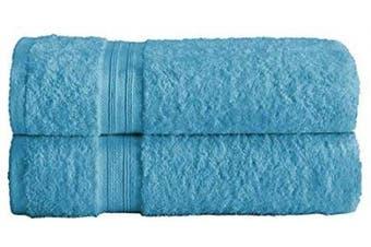 (Teal, 2 X Bath Sheets) - Divine Textiles Fade Resistant Towel Set 100% Egyptian Cotton 500 GSM, 2 X Bath Sheets - Teal