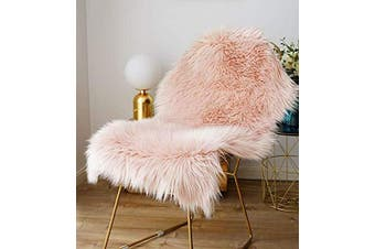 (Pink, 75x120cm) - ZCZUOX Faux Sheepskin, Faux Fur Rug, Fluffy Rug for the Bedroom, Living Room or Nursery, Furry Carpet or Throw for Chairs, Stools and Sofa (Pink, 75x120cm)