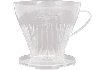 Melitta Pour Over Filter Holder, Size 1x4, 6761021, Used with 1 Jug or 2 Cups, Plastic, Transparent
